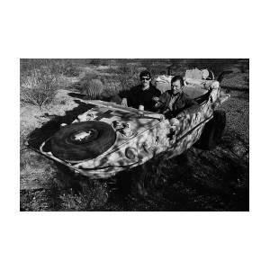Writer Robert Powers And Barry Sadler 1941 German Army Vw Amphibian Tucson Arizona 1971 Photograph By David Lee Guss