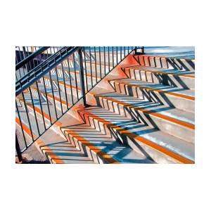 Zig Zag Shadows On Train Station Steps by Gary Slawsky