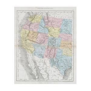 1864 Dower Map Of The Western United States