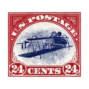 Gerahmter Druck Bild Invertiert Jenny Stempel 1918 Unterbewertet Bei $977,500