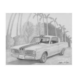 1966 Plymouth Barracuda Classic Car Art Print
