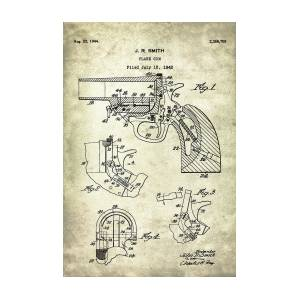 flare gun - patent drawing for the 1942 flare gun by j  r  smith by jesp art