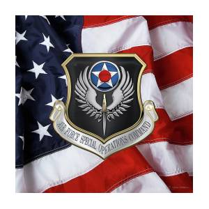 Air Force Special Operations Command - A F S O C Shield Over American Flag