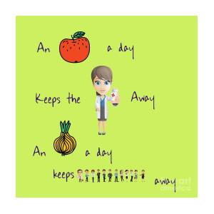 an apple a day digital art by humorous quotes