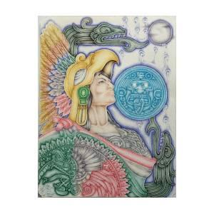 Aztec Warrior Painting By Lizbeth Gomez
