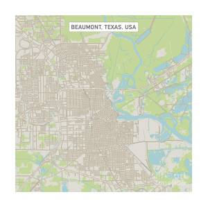 Map Of Beaumont Texas.Beaumont Texas Us City Street Map Digital Art By Frank Ramspott