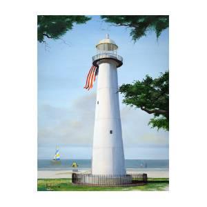 Biloxi Lighthouse Painting By Ron Landry
