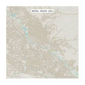 Boise Idaho Us City Street Map by Frank Ramspott