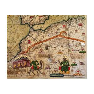 Catalan Map Of Europe And North Africa Charles V Of France In 1381