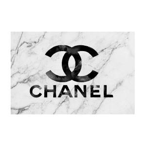 Logo Del White Art Chanel By Marble