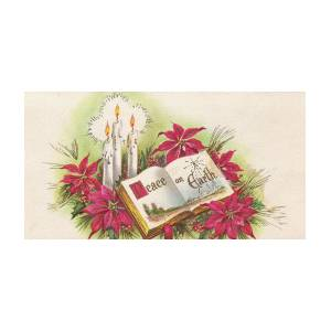 Vintage Christmas Candles.Christmas Illustration 1160 Vintage Christmas Cards Peace On Earth Christmas Candles
