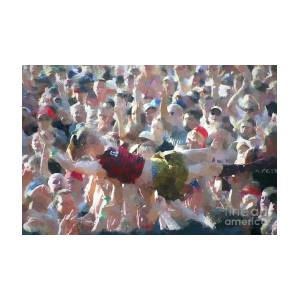 Crowd Surfing At Woodstock 94