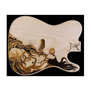 Custom Warmoth Telecaster Guitar Pyrography by Dino Muradian
