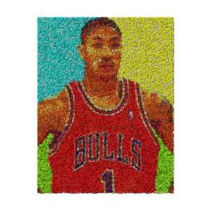 799a73ac4780 Derrick Rose Skittles Mosaic Mixed Media by Paul Van Scott