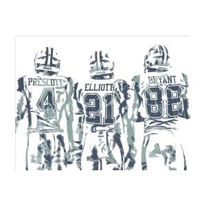 52d34a5057c49d Dez Bryant Ezekiel Elliott Dak Prescott Dallas Cowboys Pixel Art by Joe  Hamilton