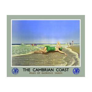 Old Travel Poster reproduction Cambrian coast