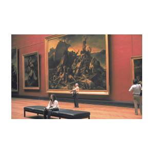 Giant Of Modern Photography At >> Giant Painting At Louvre Photograph By Carl Purcell