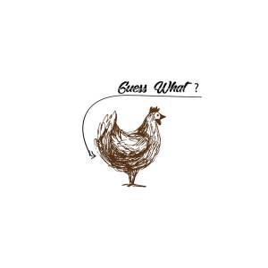 dc69989f87d8 Guess What? Chicken Butt Graphic T-shirt Brown, Brown by Mehdi Machrouhi