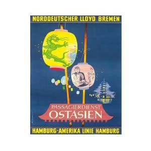 Sunshine Cruises  Vintage Ocean Liner Travel Art Poster Print