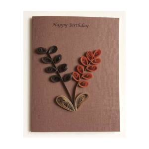 Excellent Happy Birthday Quilled Greeting Card Mixed Media By Gay Dallek Personalised Birthday Cards Cominlily Jamesorg