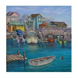 ocean painting original oil painting fine art oil painting South Port North Carolina framed art original fine art