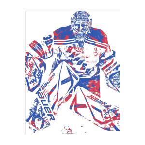 Henrik Lundqvist New York Rangers Pixel Art 7 Mixed Media By Joe