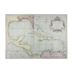 Golfo De Mexico Map.Mapa Maritimo Del Golfo De Mexico Gulf Of Mexico Map 1755 Photograph