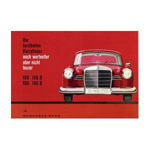 Mercedes Vintage Poster - Mercedes Benz - Mercedes Car Print - Car Art -  Car Wall Decor - Old Car Ar