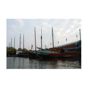 Old Wood Sailboats Docked Amsterdam Holland By Just Eclectic