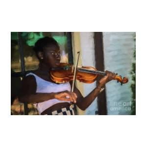 Portrait Of Violinist Playing Ashokan Farewell - Photo Art by Doug Berry
