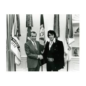 President Nixon And Elvis Presley In Oval Office