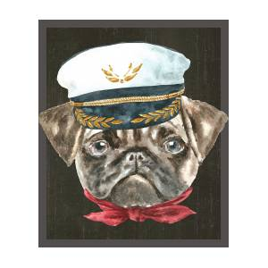5f4a3aae3ae Pug Captain Hat Red Scarf Dogs In Clothes Digital Art by Trisha Vroom
