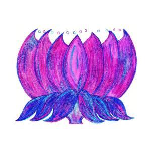 Purple Lotus Pastel By Chandelle Hazen