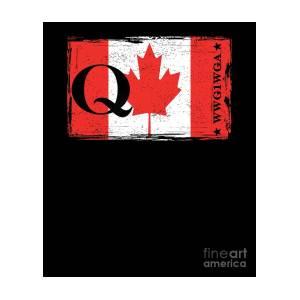 55216f412 Qanon Wwg1wga Q Anon Great Awakening Canada Flag Digital Art by Henry B