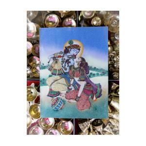 Radha Krishna Love Scene Painting by Jitesh Arts