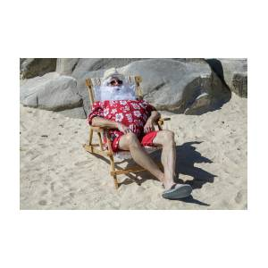 80bc8167 Santa Claus On Sunny Beach In Chair Photograph by Karen Foley