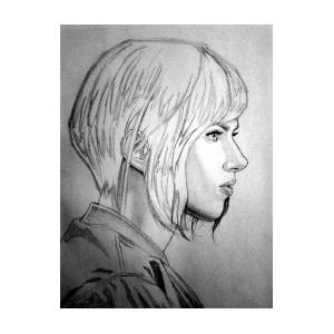 Scarlett Johansson As Major From Ghost In The Shell By Uzeir Mustafa