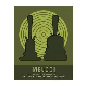 Science Posters - Antonio Meucci - Inventor by Studio Grafiikka
