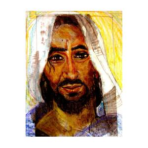 Sketch Of Jewish Jesus Drawing By Sarah Hornsby
