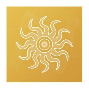 sun salutation digital artsallie keys