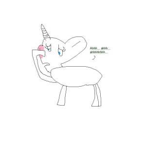 Unicorn Holds Back Sneeze