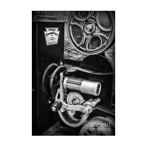 Vintage Keystone Movie Projector In Black And White
