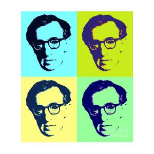 Woody Allen Pop Art Poster Painting by Pd