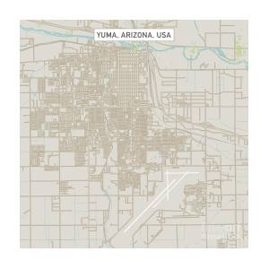 Street Map Of Yuma Arizona.Yuma Arizona Us City Street Map By Frank Ramspott
