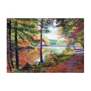 A Quiet Autumn Stroll Painting By David Lloyd Glover