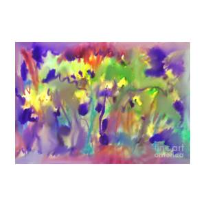 Abstract Watercolor Background Spring Bloom