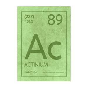 Actinium Element Symbol Periodic Table Series 089