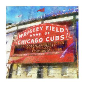58c43789be Chicago Sports Wrigley Field Cubs World Series Marquee Photo Art Sq Format  by Thomas Woolworth