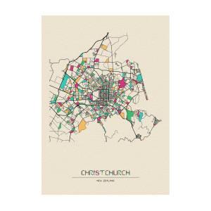 City Map Of New Zealand.Christchurch New Zealand City Map