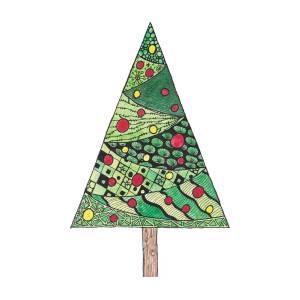 Christmas Tree Cutout.Christmas Tree Watercolor Cutout